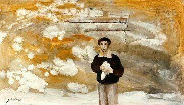 Guirado art - Niño con paloma.