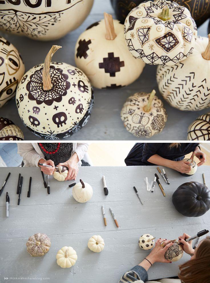 easy pumpkin decorating //Manbo & 855 best Art: The Great Pumpkin images on Pinterest   Halloween ...