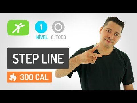 Aula de STEP LINE Fitness - Ginastica de Baixo impacto e Alta Queima Cal...