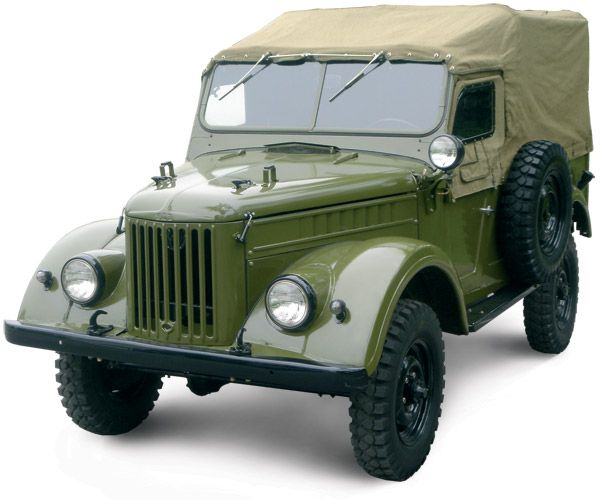 GAZ-69 (with canvas top cover and side windows on)