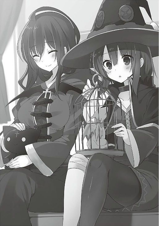 Wiz & megumin playing with pets