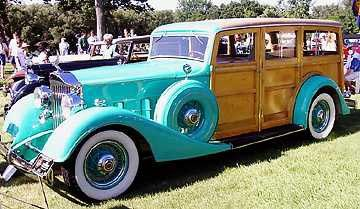 This very rare 1934 Packard woodie station wagon was shown at the 1999 Meadow Brook Concours d'Elegance by William J. Chorkey of Farmington Hills. Body was built by Bridgeport Body Works and the vehicle is the only woodie of that model known to exist.