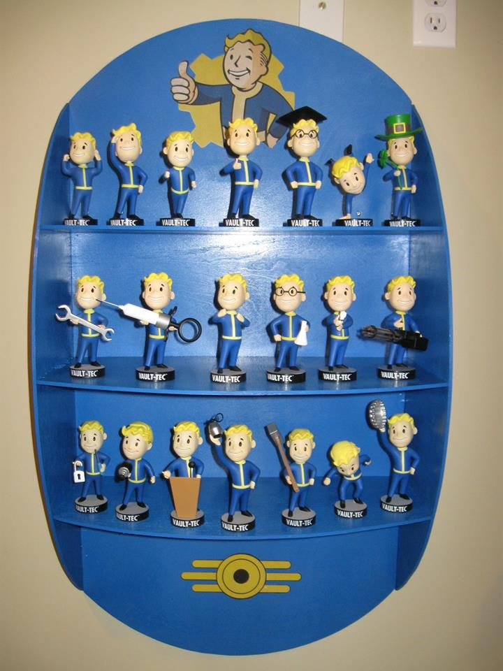 DIY Fallout 4 shelf with Vault 101 Vault 111 bobbleheads @chrisjbourque