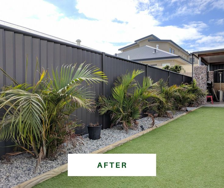 From yellow colorbond fence to beautiful charcoal   https://fencemakeovers.com.au