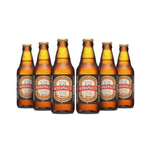 Outras Cerveja Serramalte Extra 300ml - Caixa com 06 unidades >>>>R$20,94