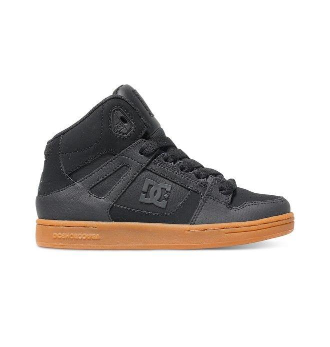 dcshoes, Boy's 8-16 Rebound SE High-Top Shoes, PURPLE RAIN (pun)