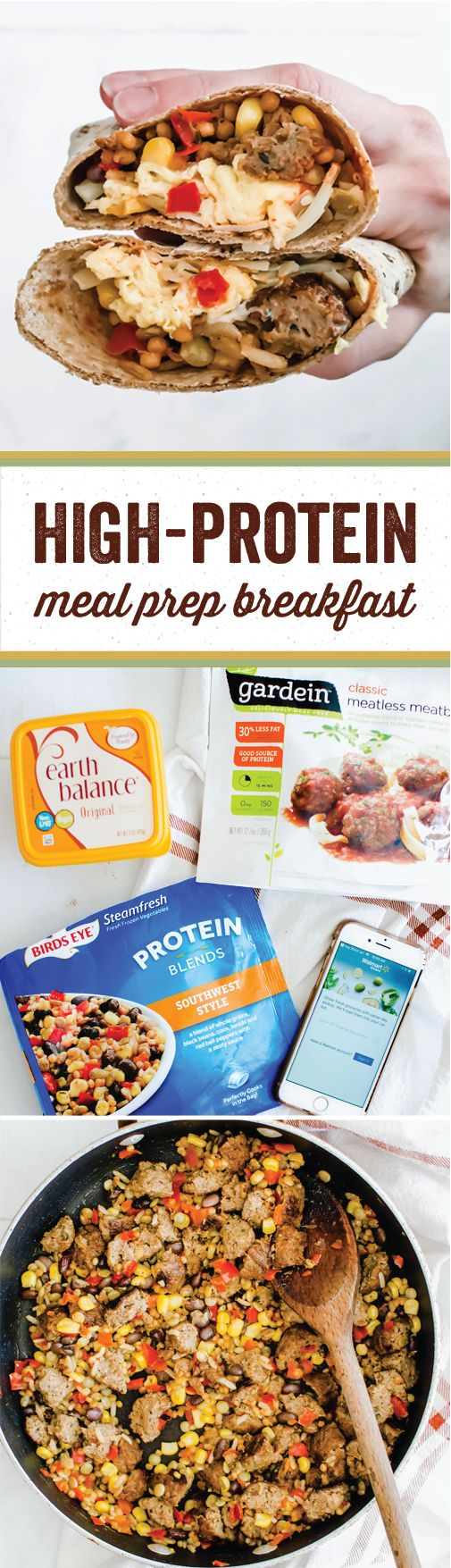 Meal prep is hard enough—throw in healthy dishes and you've got quite the dilemma on your hands! Thankfully, this recipe for High-Protein Freezer-Friendly Breakfast Burritos makes it easier than ever to plan ahead with nutrient-rich dishes. Made with Birds Eye® Protein Blends Southwest Style Veggies, Gardein® Classic Meatless Meatballs, and Earth Balance® Original Buttery Spread, you can find everything you'll need to make this meatless meal for yourself at Walmart!