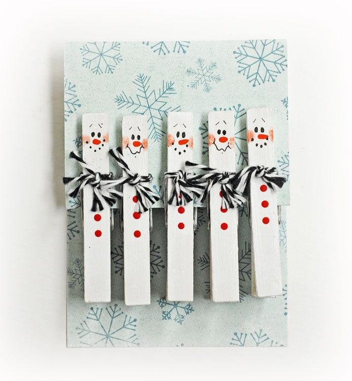 D.I.Y. Snowman Clothespins