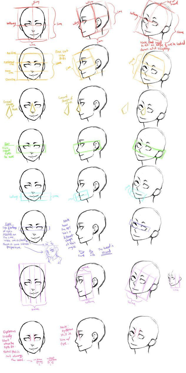 How To Draw Face Angles Head Study