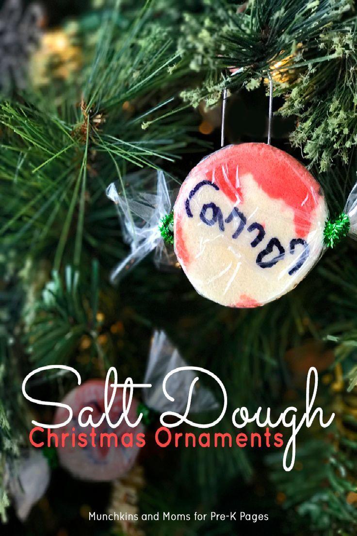Christmas name ornaments - Salt Dough Christmas Ornaments