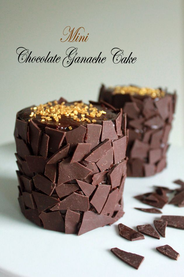 Mini Chocolate Ganache Cake - http://ohsweetday.com/2013/11/mini-chocolate-ganache-cake.html?glamLinkTarget;csc=fhol