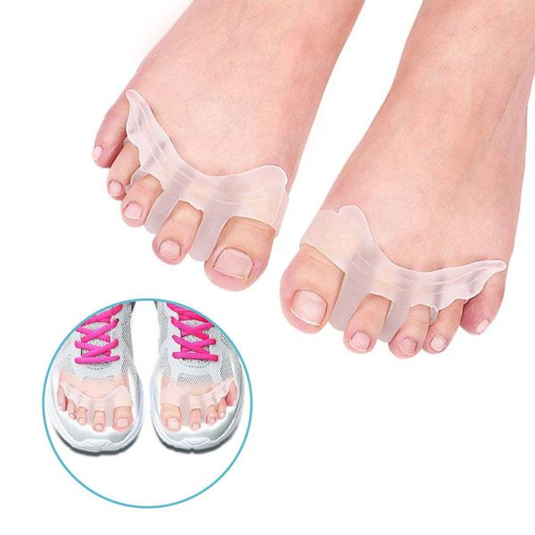 Gel Toe Separators Bunion Corrector for Overlapping Toe Fabric Toe Spacers