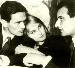 Pier Paolo Pasolini - Laura Betti - Goffredo Parise - 1961