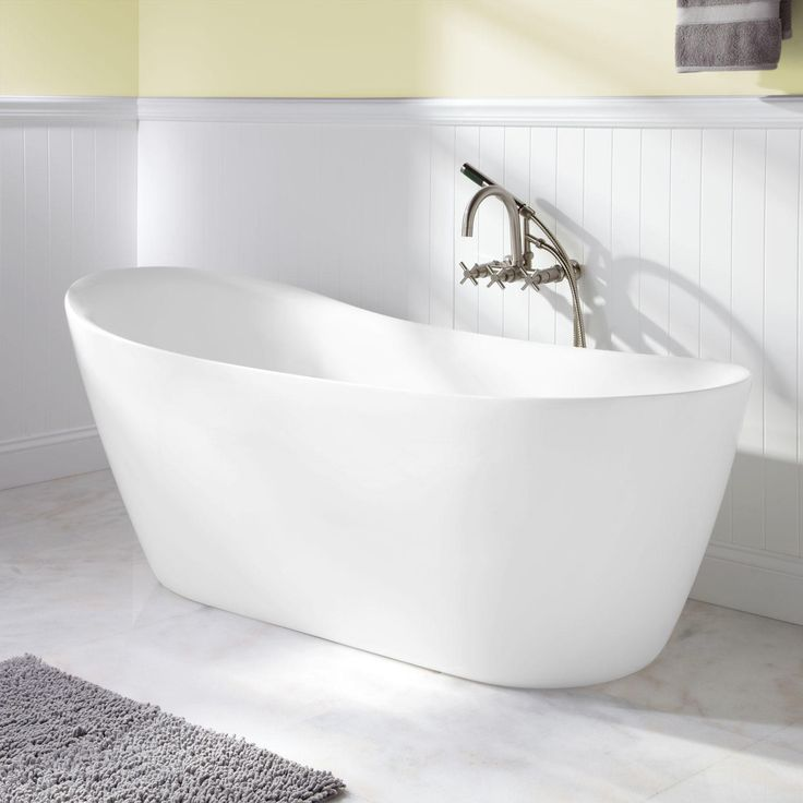 best material for freestanding tub. 66  Ennis Acrylic Freestanding Slipper Tub 25 best Bathtubs images on Pinterest Bath tubs Bathroom ideas