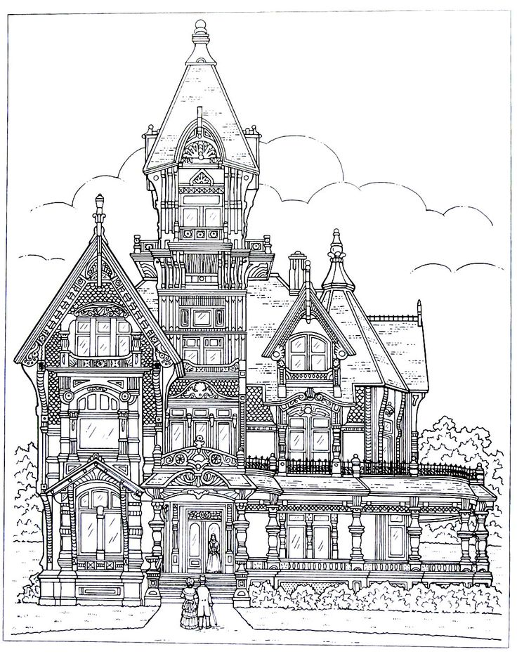 victorian mansion coloring pages - photo#6