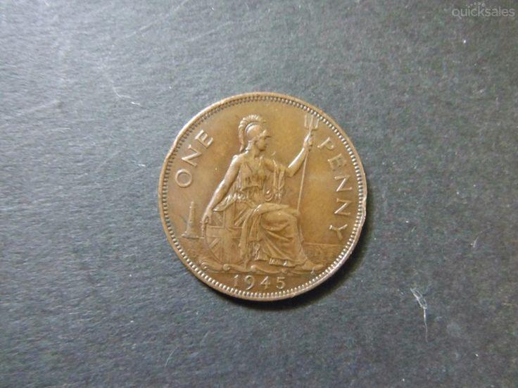 UK penny 1945 , KGVI, good condition by jones101 - $10.00