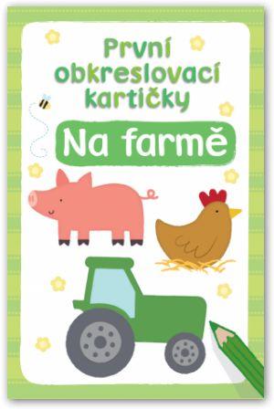 První obkreslovací kartičky –  Na farmě