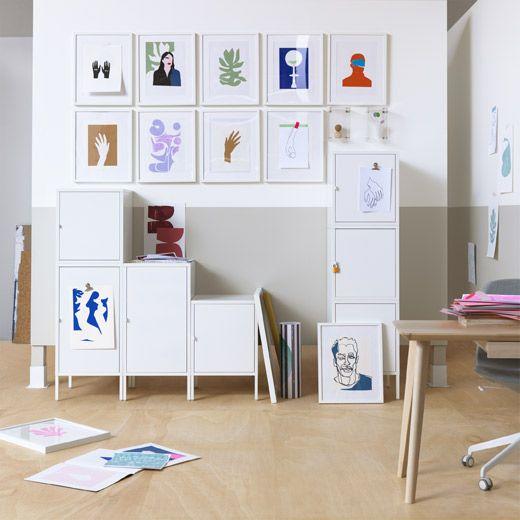 IKEA HÄLLAN låsbart skåp gör att du får ha dina saker ifred hemma, om du delar rum eller på kontoret.