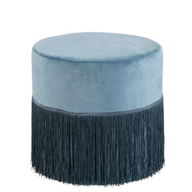 Fabria Pouf Bleu H 40 Cm O 40 Cm Specialiste Depuis 40 Ans Deja Casa Pouf Bleu Mobilier De Salon Pouf