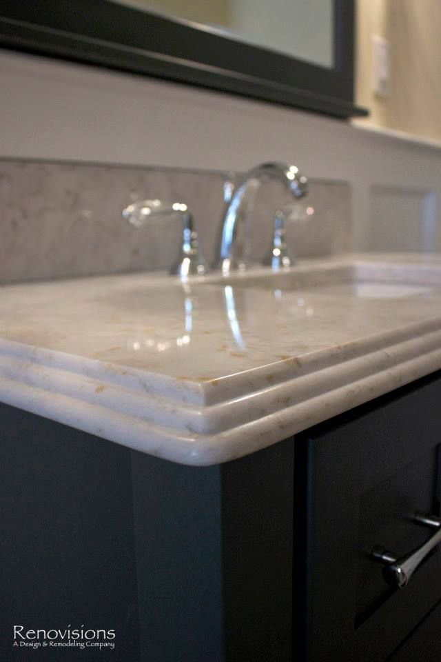 Silestone countertop with a decorative waterfall edge for Silestone kitchen sinks