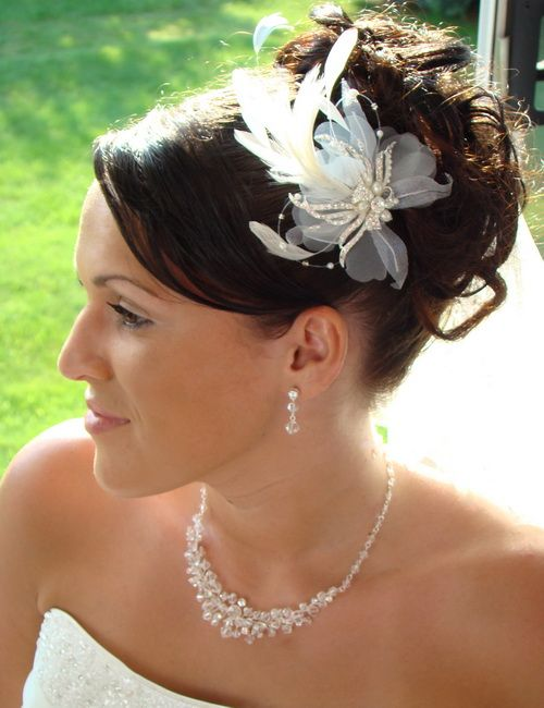 Bridal Hair Updos with Flower