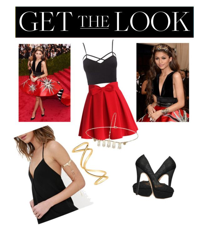 """""""Get the Look: Met Gala 2016"""" by ashley-basketball ❤ liked on Polyvore featuring GALA, Charlotte Russe, Chicwish, Miss Selfridge, LULUS, Maison Margiela, Charlotte Olympia, GetTheLook, MetGala and plus size clothing"""