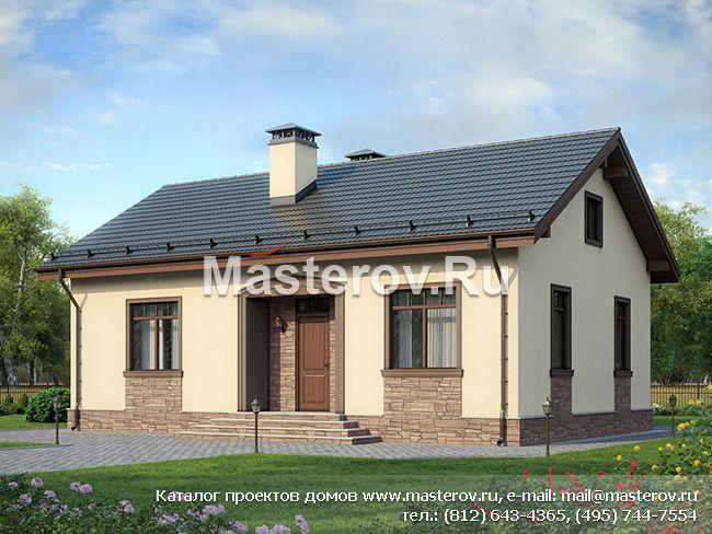 Одноэтажный дом 12,5 на 8,5 № F-083-1P