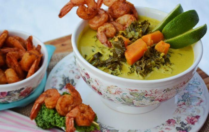 Karibi édesburgonya leves sült csípős garnélával :: Paleország :: Recepttár