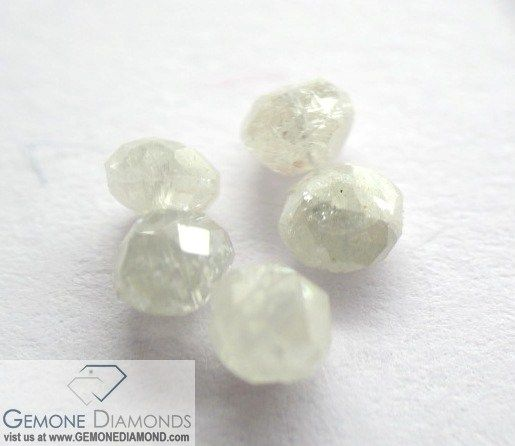 The facated white, gray, black diamond beads are available in different variety. below is the description available for sell.   PRODUCT: NATURAL DIAMOND BEADS NECKLACE COLOR : WHITE, GRAY, PALE YELLOW, BLACK ETC. SIZE: 2MM TO 5 MM LENGTH: 12 INCH TO 20 INCH WEIGHT: 12 CARAT TO 50 CARAT LOOSE BEADS PRICE FROM USD 26 PER CARAT TO USD 40 PER CARAT DEPENDING ON QUALITY AND SIZE ANY SIZE, COLOR, CLARITY,SHAPE REQUIREMENT FOR OUR DIAMONDS AND OTHER PRODUCTS ARE MOST WELCOMED