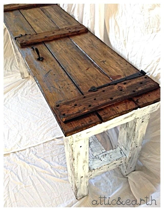 34+ White barn door coffee table model
