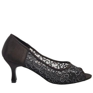 black, heel, peep toe, low, medium, cocktail, lace, formal
