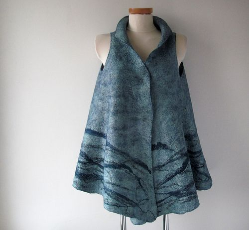 Felted vest - misty blue | Galina Blazejewska via Flickr