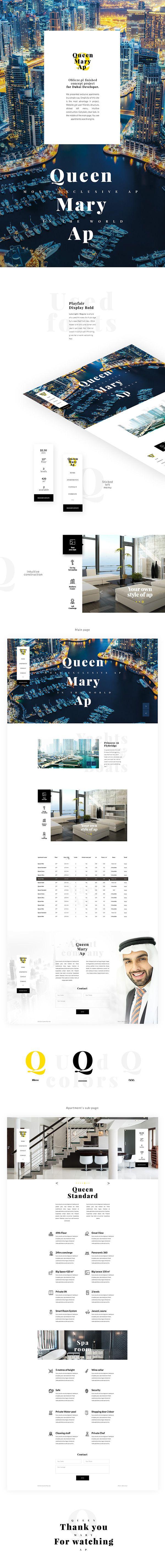 Web design. Modern website. Marina Dubai Apartments.