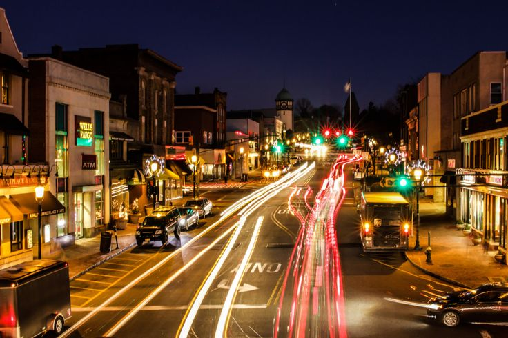Above View of South Orange Ave in South Orange Village • Framed Print by HashtagSBJAX on Etsy