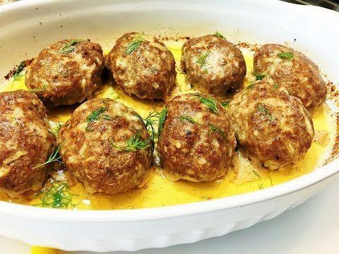 Как приготовить сочные и нежные котлеты в духовке.  Meatballs in the oven. - YouTube