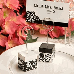 black and white damask design place card holders damask placecard holder wholesale wedding supplies discount wedding favors party favors