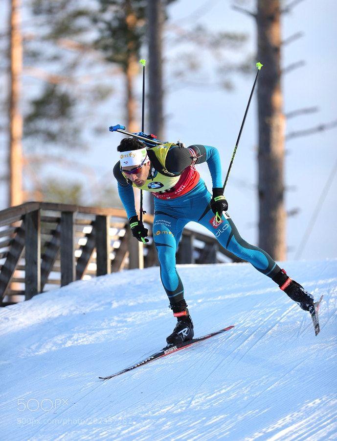 Kontiolahti Finland Biathlon 2017 - Winner Martin Fourcade France by ppjarves