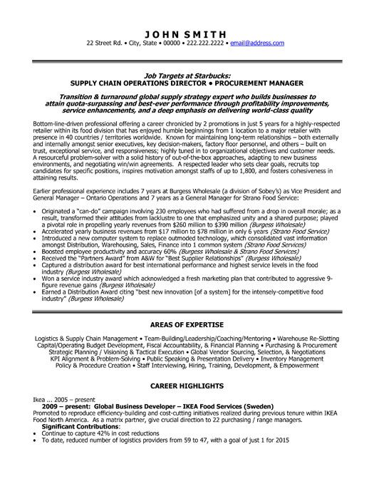 24 best Best Marketing Resume Templates \ Samples images on - inventory management specialist resume