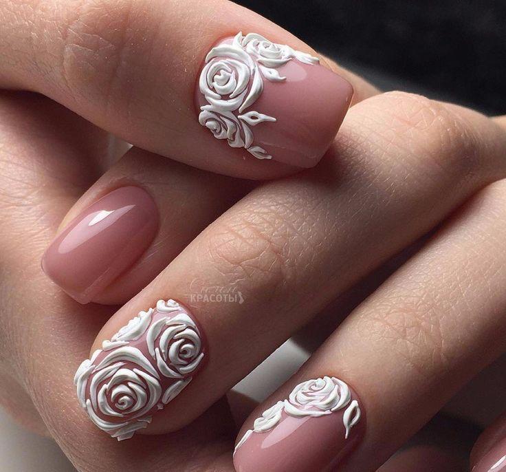 Best 25+ Rose nail art ideas on Pinterest | Rose nail ...