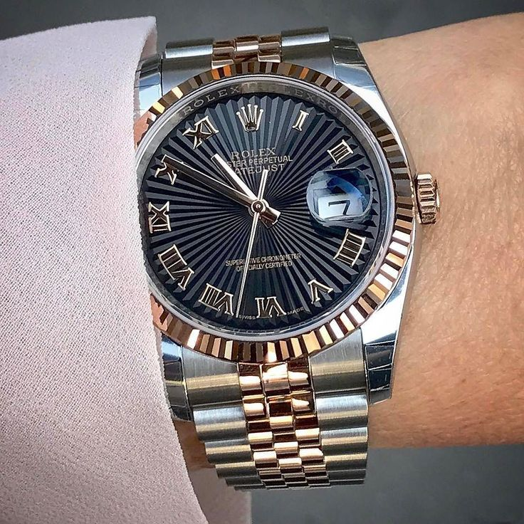 DATEJUST 36mm Dial : black roman sunburst