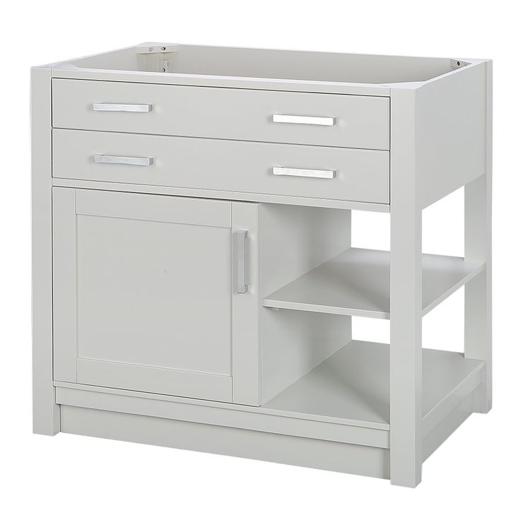P.R. ; allen + roth Chanceport Specialty Grey Transitional Bathroom Vanity 36-in x 22-in | Lowe's Canada