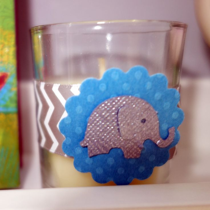 Photo of the candle favor from my baby shower.