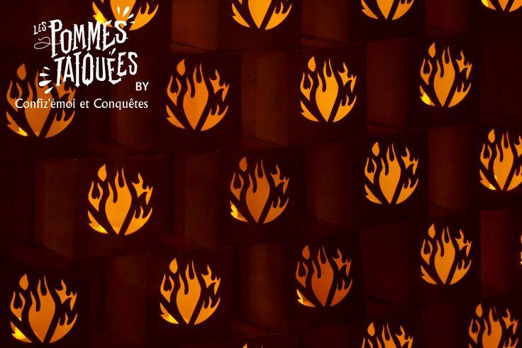 #packaging #photophore des pommes tatouées #Design Graphique Collaboration artistique Conquêtes & Confiz'émoi