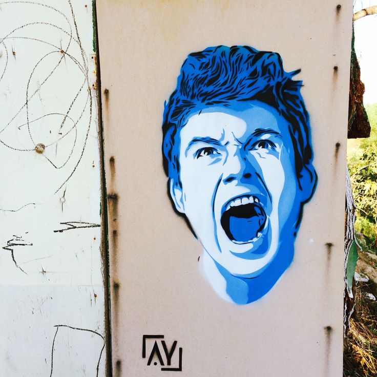 Scream stencil in Cyprus