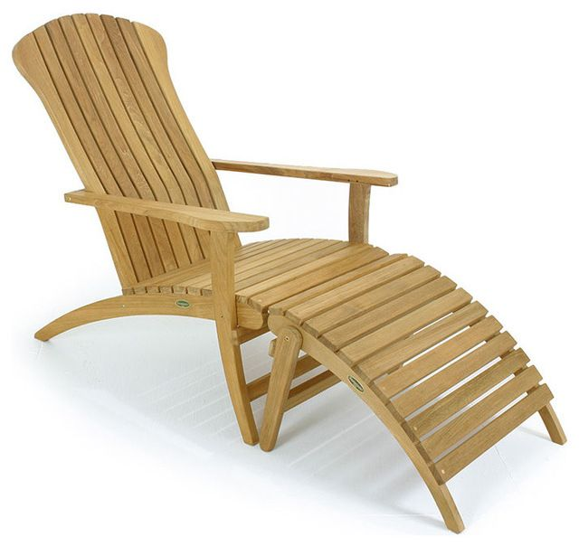 Teak Adirondack Chair traditional-outdoor-chairs