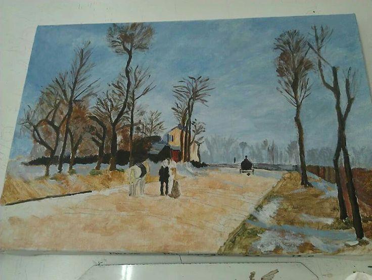 #art #painting #sanat # tablo #resim #akrilik #drawing #kış #winter #trees