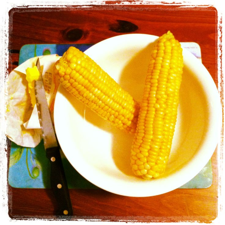 The best way to eat corn on the cob is freshly picked and smothered in butter!
