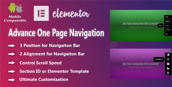 Advanced One Page Navigation for Elementor | Best Premium