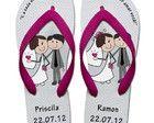 Chinelo Personalizado para Casamento 08
