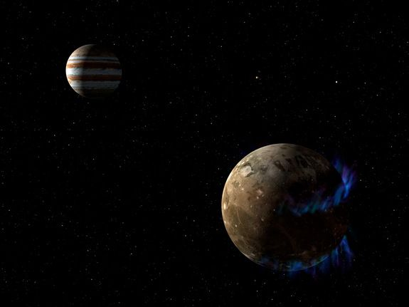 Jupiter's Moon Ganymede Has a Salty Ocean with More Water Than Earth The ocean there is thought to extend to 10 times the depth of Earth's oceans